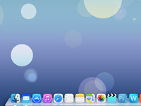 Desktop OS X Mavericks flat design