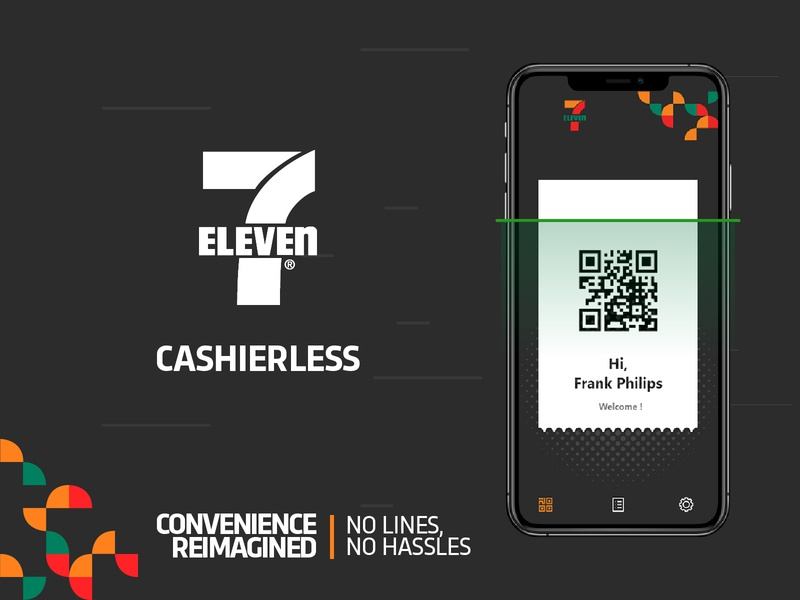 7-Eleven CASHIERLESS ios ux cashierless