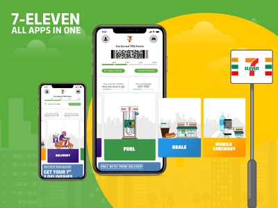 7-ELEVEN All apps in one ui ux