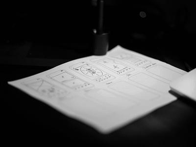 Wireframes free-throw sketch wireframe