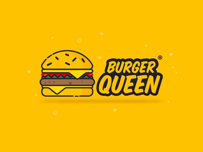 Burger Queen logo design branding