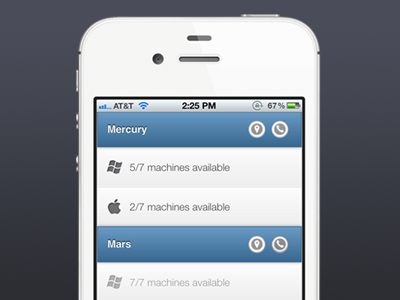 Computer Lab App website mobile ui jquery mobile