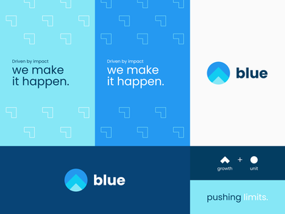 Company Business Unit Branding tagline pattern growth blue branding business unit