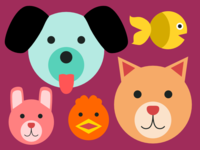 Animals for Pet Cheatsheets
