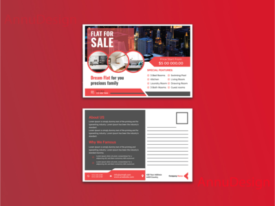 Real Estate Post Card Design
