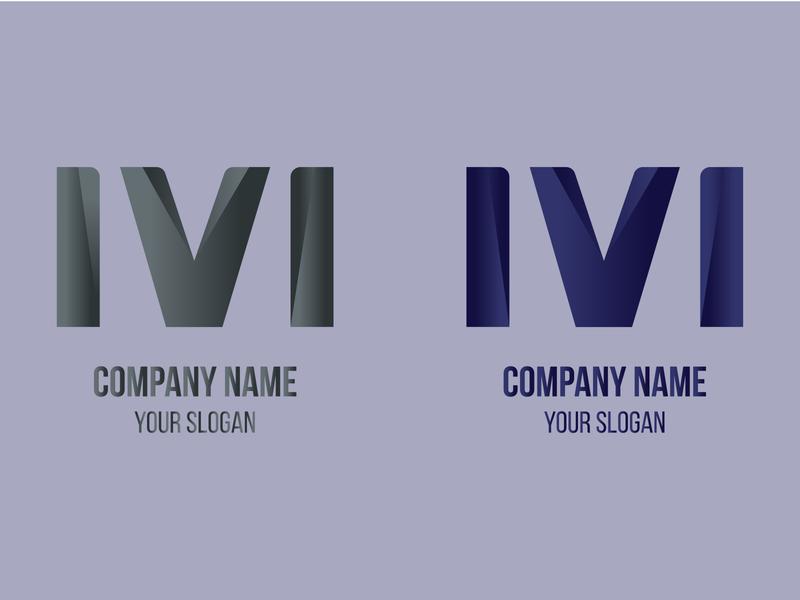 Abstract MV Letter Logo Design