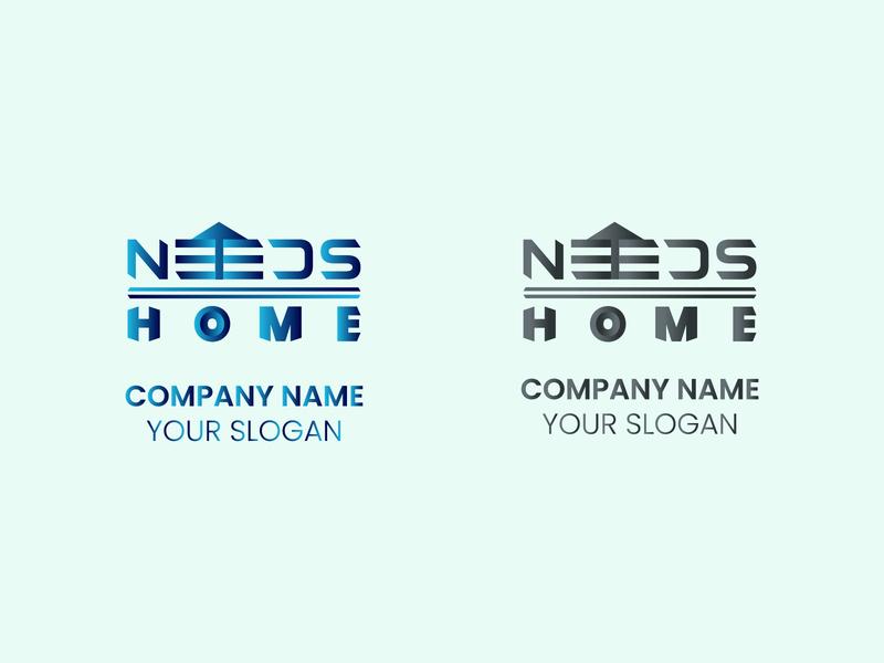 Minimal and Flat Real Estate Logo Design