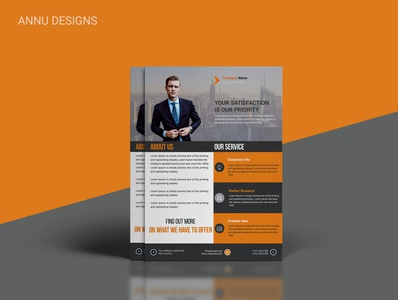 Minimal & Clean Corporate Flyer Design