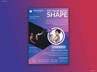 Gym & Fitness Flyer Design
