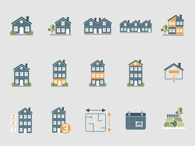 Rental of property icons