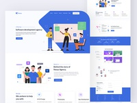 Agency startup landing page