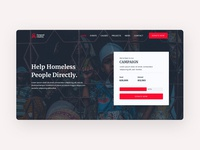 Landing page forgood-Charity