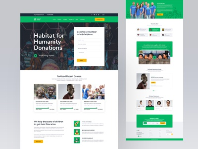 ForGood Charity Homepage Design charity website webui webuiuxdesign donation donate website maranik interface trendy daily ui web design homepage landing page 2020 2020 trend