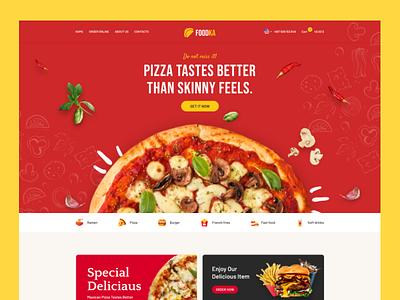 Foodka - Restaurant Food Ordering & Delivery ui ux ui design ecommerce webdesign landing page