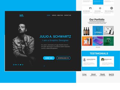 One page Personal Portfolio Web Design