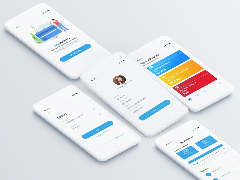 Mobile UI design clean ui design mobile app mobile ui user experience user interface ui design ui
