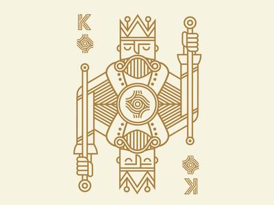 The King graphic design illustration poker deck playing cards jack queen joker king