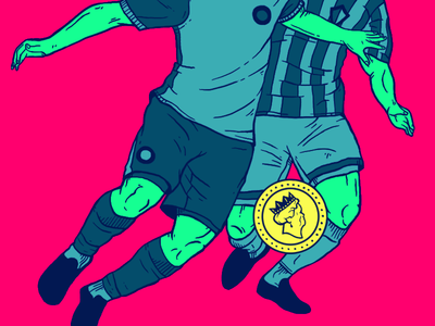 The Beautiful Game coin movement color illustration money sport game football soccer