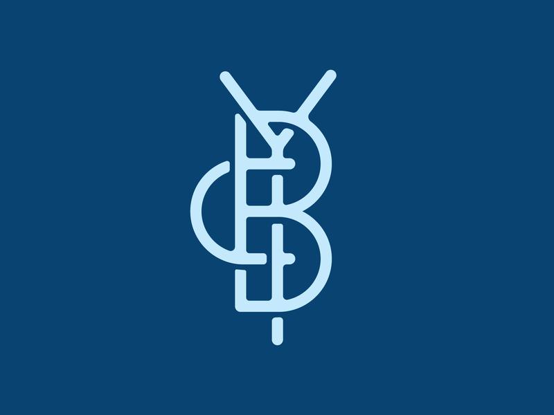 YBC Monogram symbol logo monogram c b y