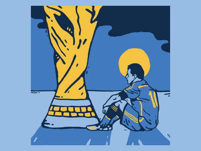 Messi 2014 argentina world cup soccer graphic football design color illustration