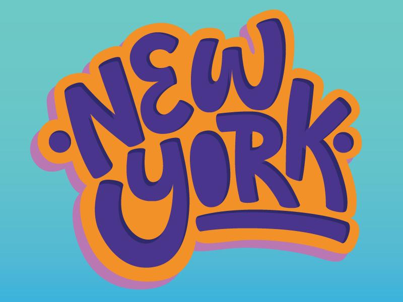 New York hand-drawn newyork lettering type