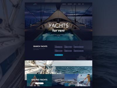 Web Design Concept - Yachts for rent