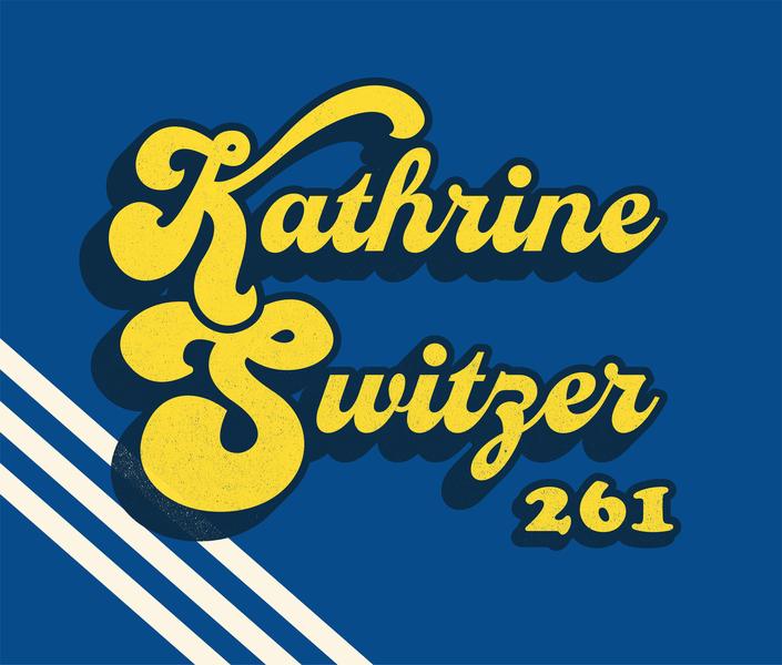 Kathrine Switzer womanempowerment pioneer herstory girlpower history women in history lettering woman runner 261 fearless 261 boston marathon kathrine switzer