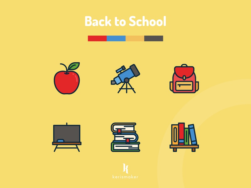 Back to School Icons icon pack app icons student school teaching learning education business design website icon app vector ui iconography icon web icons set icon icons