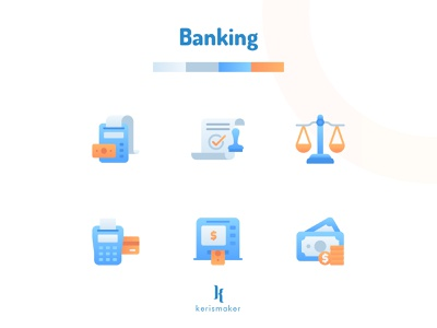 Banking Icons deposit savings money accounting finance banking app bank banking vector kerismaker ui  ux website business icon pack icon app iconography icon web icons set icons icon