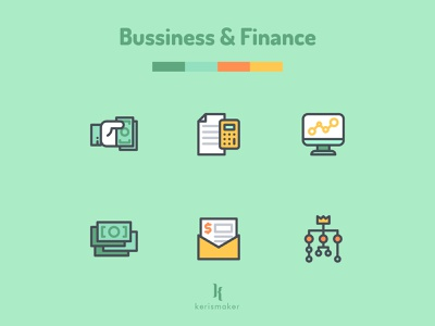 Bussiness & Finance Icons banking money start up accounting finance employermanagement business agency icon pack illustration vector website iconography kerismaker icon app icon web icons set icons icon