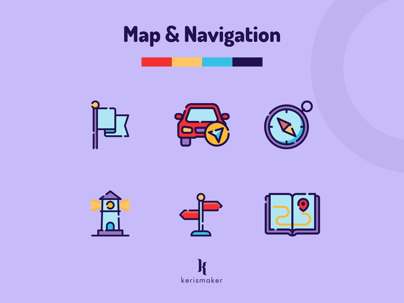 Map & Navigation Icons destination direction guide location pin place map navigation business icon pack ui illustration website vector icon app kerismaker iconography icon web icons icons set icon