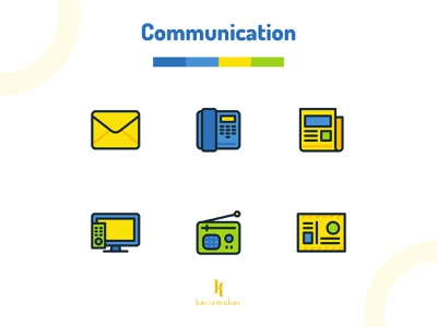 Communications Icons interface icons branding technology teamwork digital marketing advertising networking marketing communication business ux ui website icon app icon web kerismaker iconography icons icons set icon