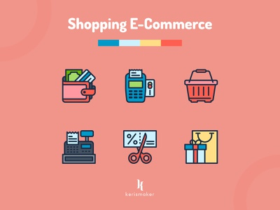 Shopping E-Commerce Icons online store commerce shopping cart online store promotion marketing ecommerce shopping app online shopping style fashion shopping business iconography website kerismaker icon app icon web icons set icons icon