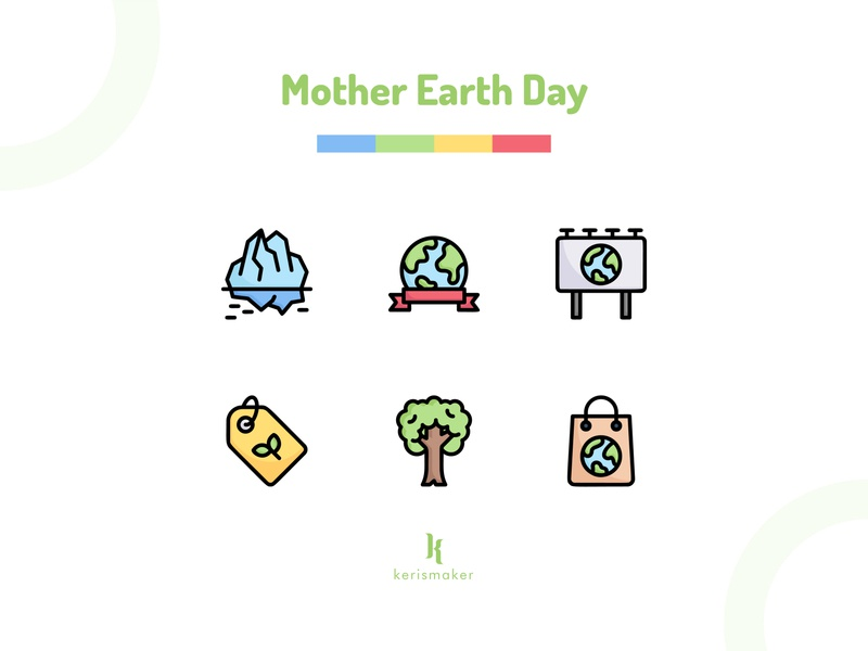 Mother Earth Day Icons campaign world eco friendly nature ecology environment mother earth earth day mother earth day design website illustration business iconography kerismaker icon app icon web icons set icons icon