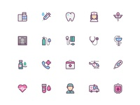 Medical icon sets