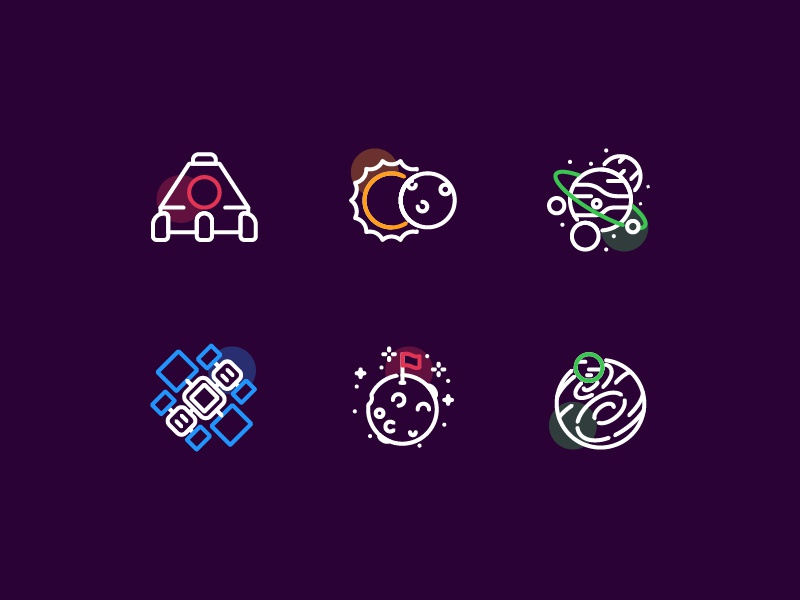 Planetary interaction design illustration ui icon app icon web icon interaction kerismaker icons set icons iconography