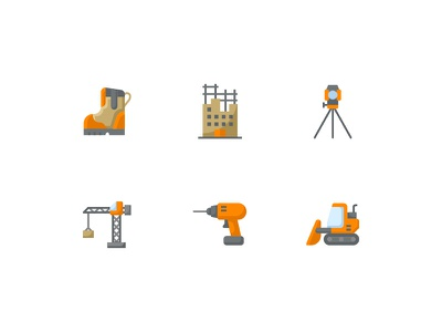 Construction Flat Staff ui vector design illustration icon app icon web kerismaker icon icons set icons iconography