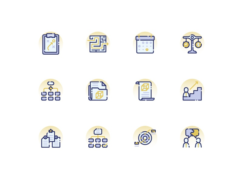 Project Management discussion organize target business strategy interaction kerismaker icon web icon icons set icons iconography