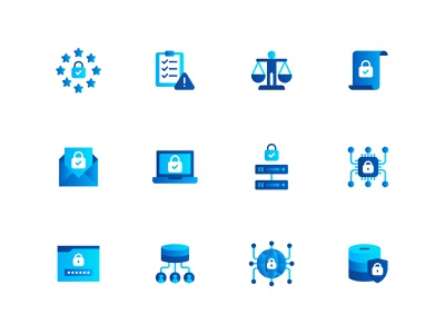 GDPR kerismaker vector design database protection gdpr icon web icon icons set icons iconography
