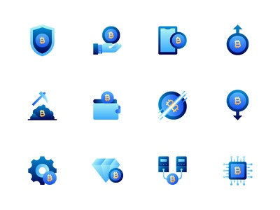 Bitcoin Cryptocurrency icon sets ui interaction icon app iconography website business crypto wallet money illustration data big data icon web icon app cryptocurrency bitcoin kerismaker icons set icons