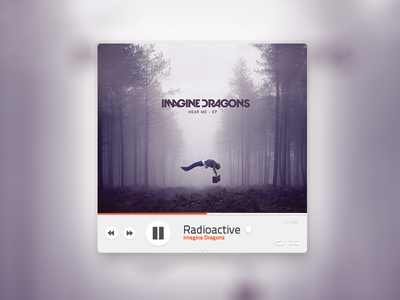 Music red gray black white purple music musicplayer player play ui ux app clean simple button next repeat title