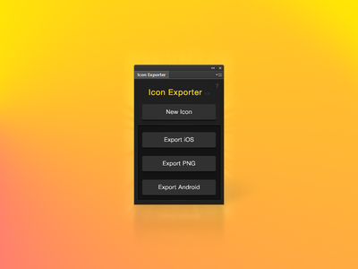 Icon Exporter zxp yellow ios png android pink 7 panel tools photoshop panel