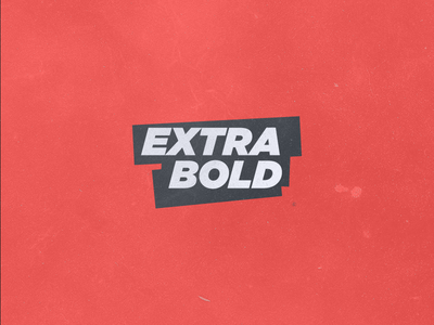 Extrabold logo extra bold red blue white vintage logotype trial