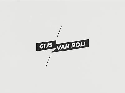 Personal Logo - draft personal logo bw black gray white ofwhite gijs van roij