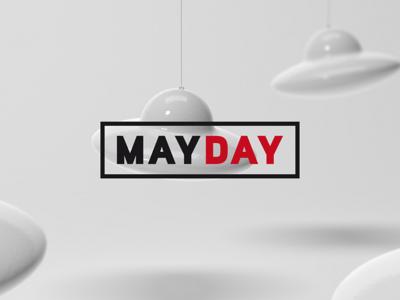 Mayday mayday red white black