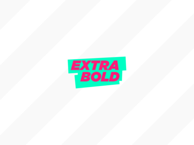 Extra Bold color update green pink logo bold extra