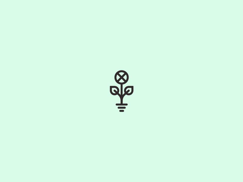 Electric Garden electric circuit illustrator logo flowerlogo gray black green flower garden