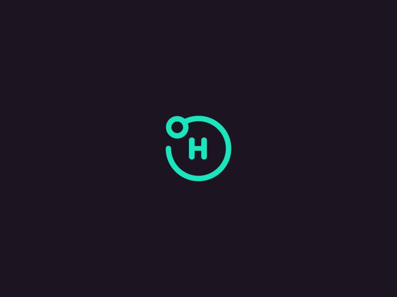 Openhash hydrogen illustration wordmark oh logo black purple teal blue green openhash