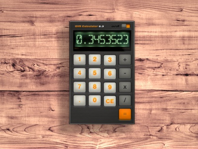 Retro style Calculator retro calculator buttons