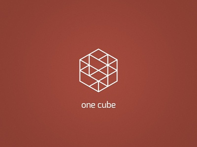 One Cube cms exo cube dark dutch hidpi modern x2 simple red logo identity